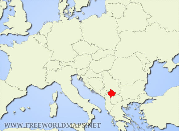 Kosovo Map In World.  Where is Kosovo located on the World map