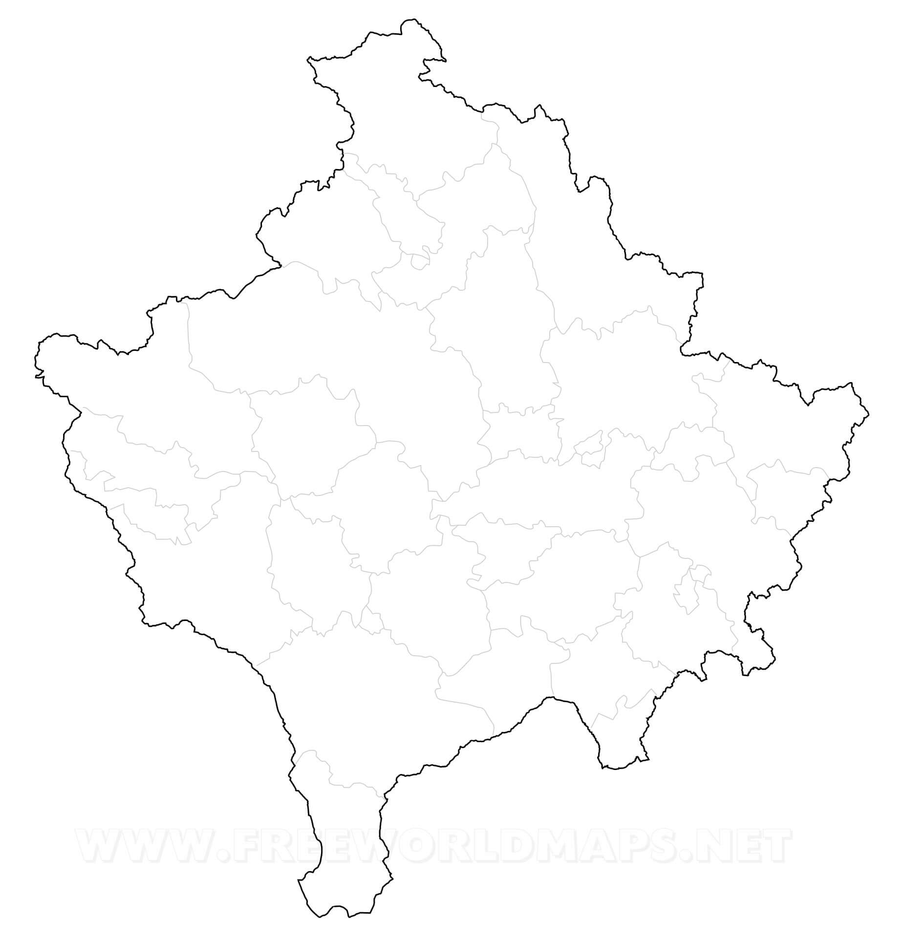 Kosovo political map kosovo outline map gumiabroncs Choice Image