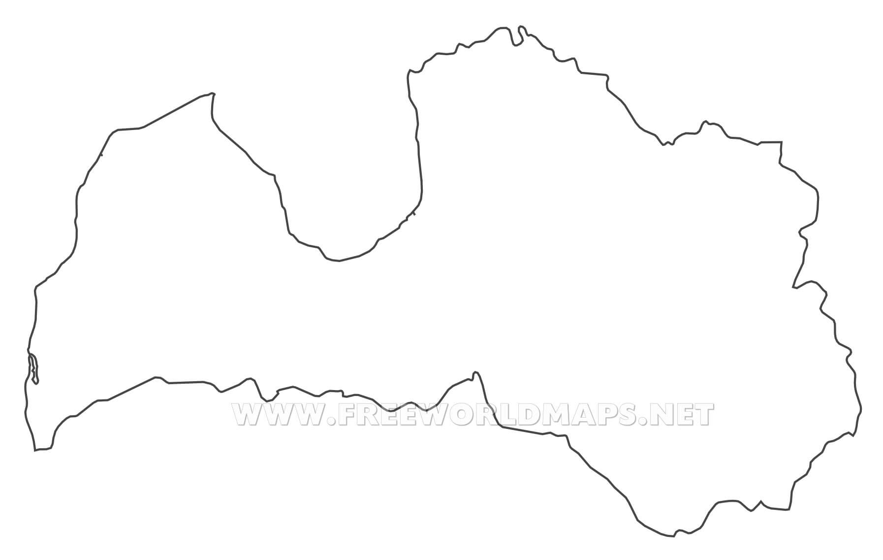 Latvia Maps By Freeworldmapsnet - Latvia map outline