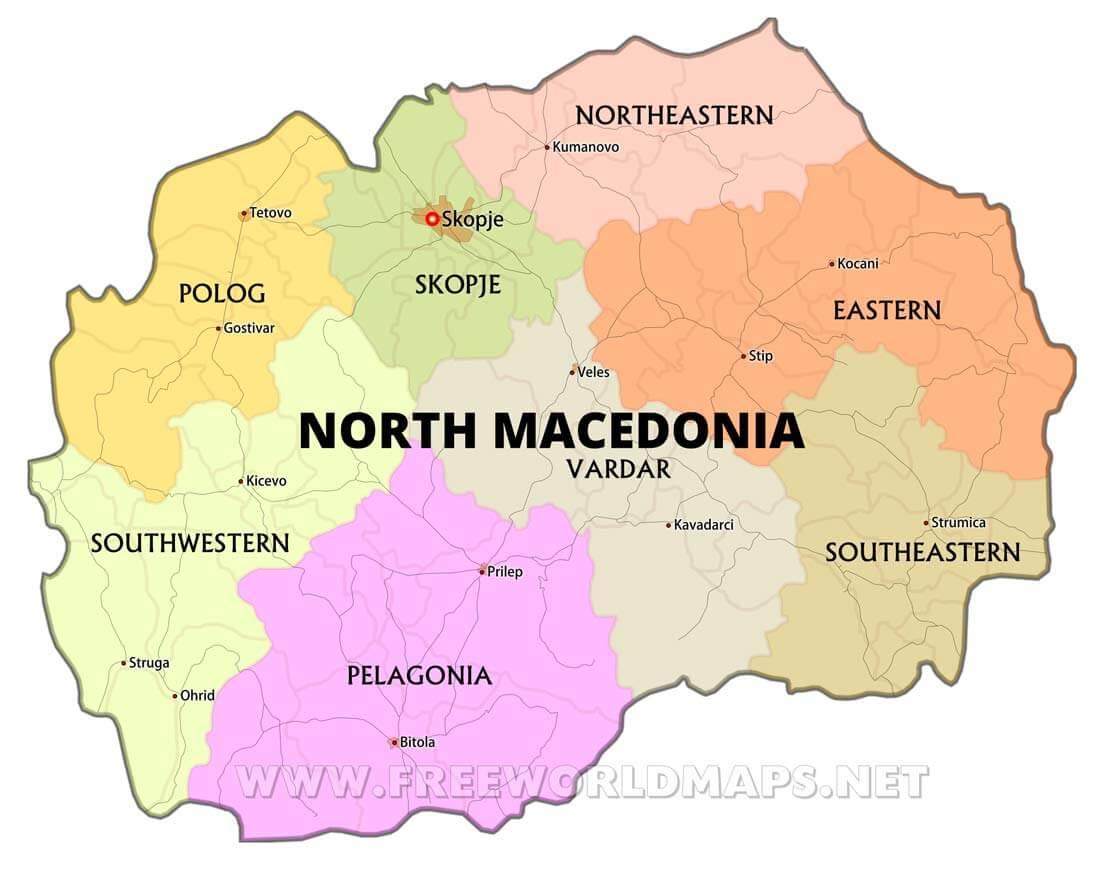 Macedonia Maps by Freeworldmapsnet