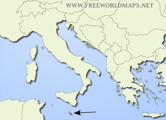 Where is Malta located on the World map?