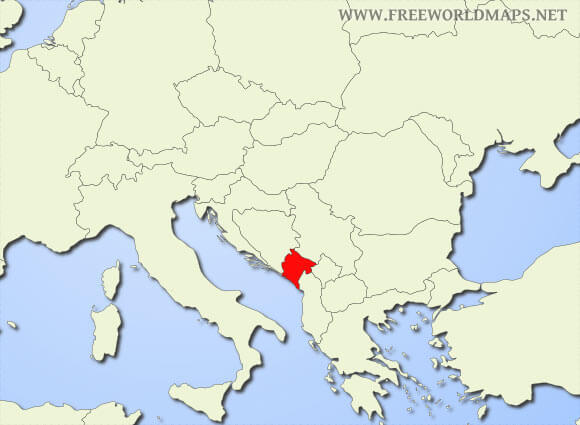Where is montenegro located on the world map montenegro location map gumiabroncs Images