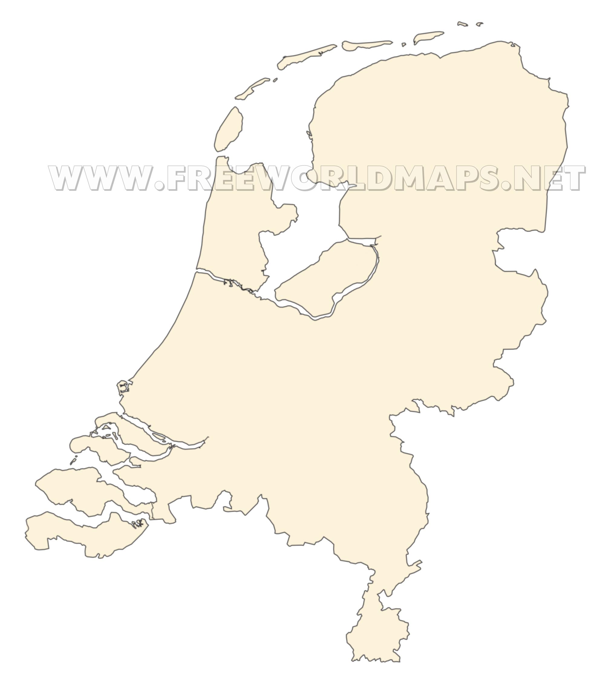 The Netherlands Political Map