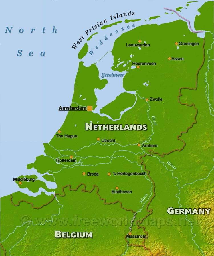 The Netherlands Physical Map