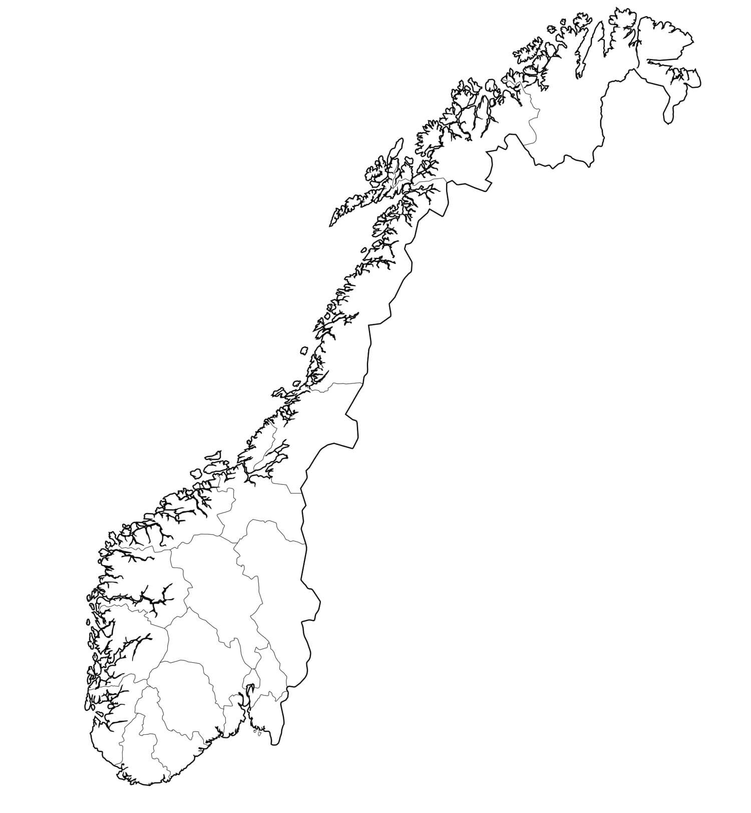 Norway Political Map - Norway map counties