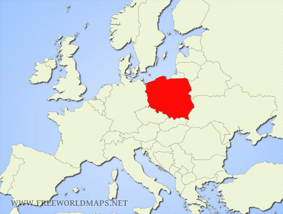 where is poland located on the world map
