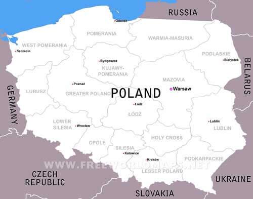 Poland Maps By Freeworldmapsnet - Poland political map