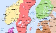 physical map of scandinavia norway sweden finnland denmark