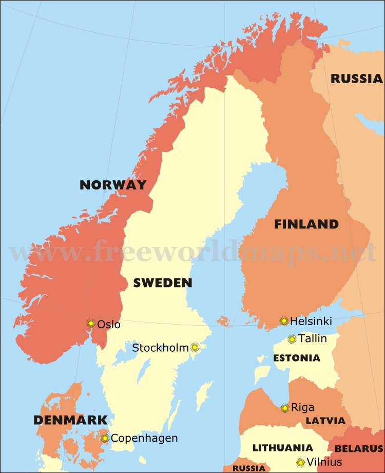 Images and Places Pictures and Info physical map of scandinavian