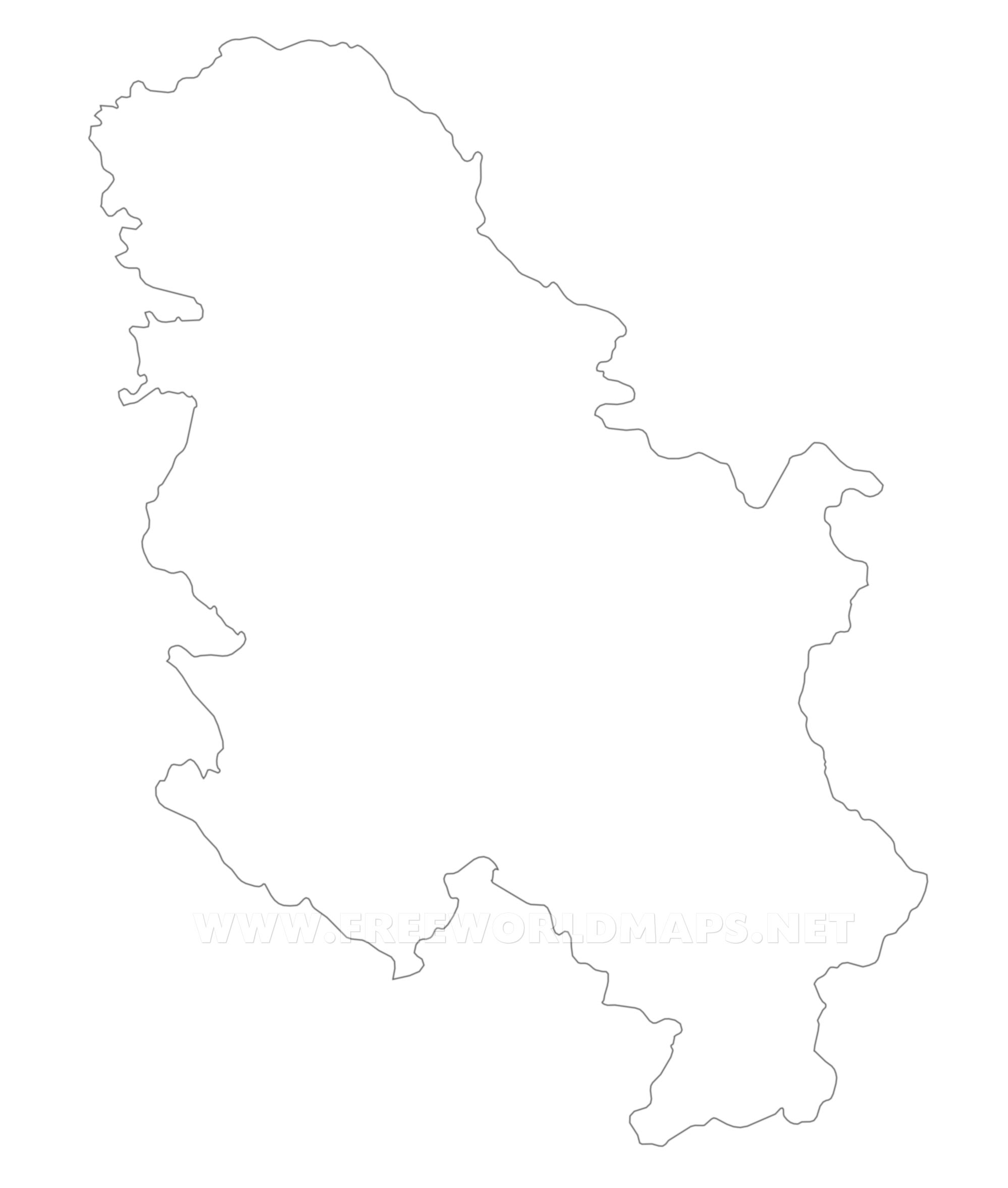Serbia Political Map - Map of serbia
