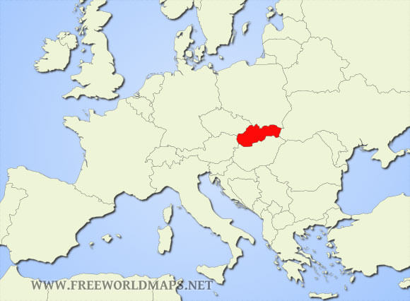 Where is Slovakia located on the World map?
