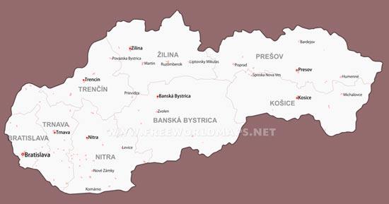 Slovakia Maps by Freeworldmapsnet