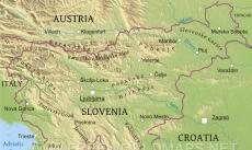 Where is Slovenia located on the World map