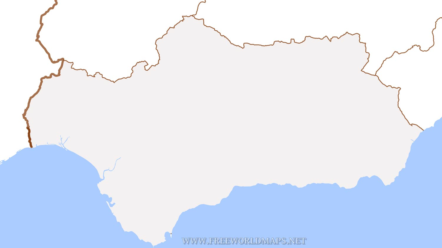 Andalusia Physical Map - Andalusia map