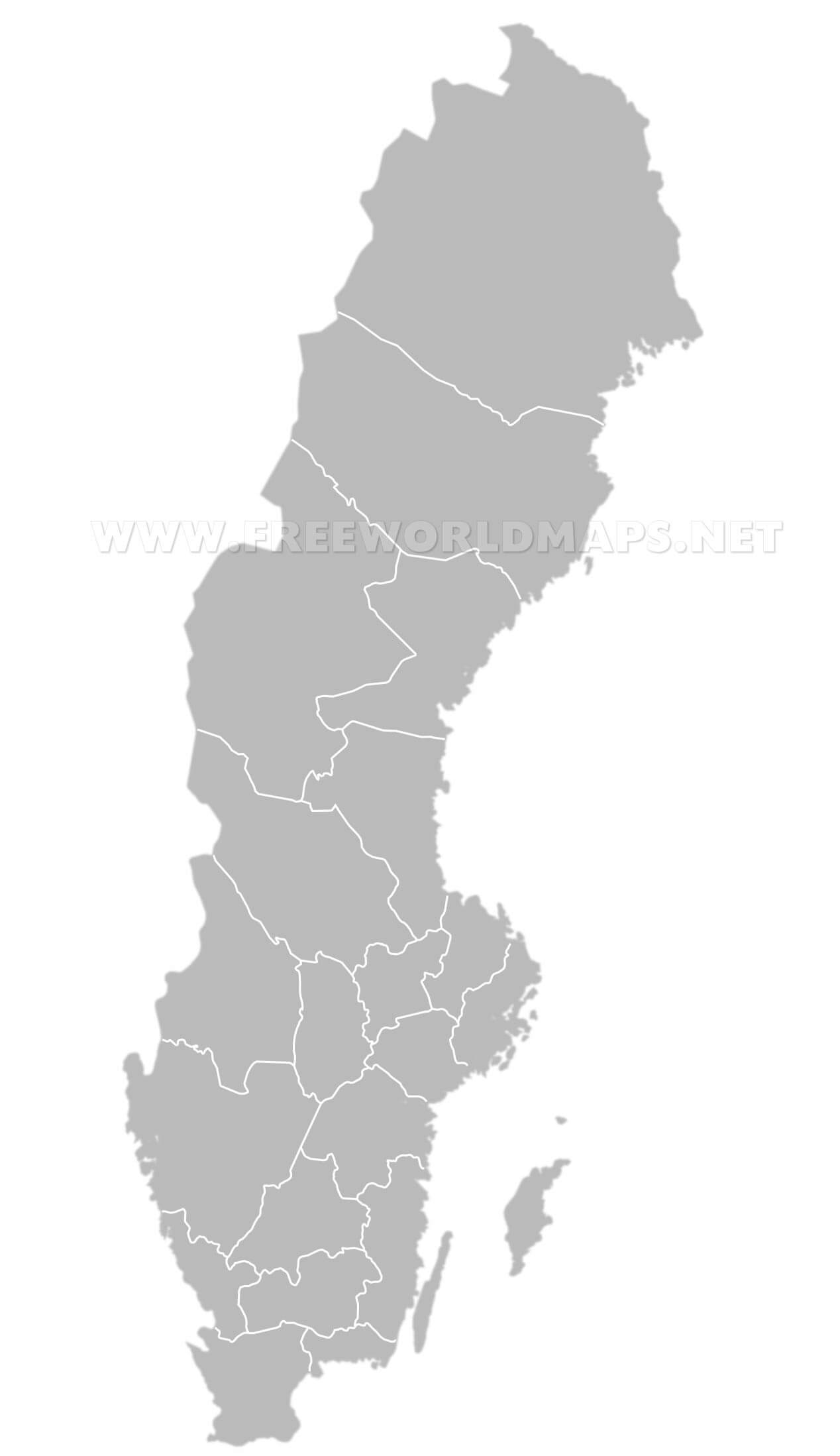 Sweden Political Map - Sweden map blank