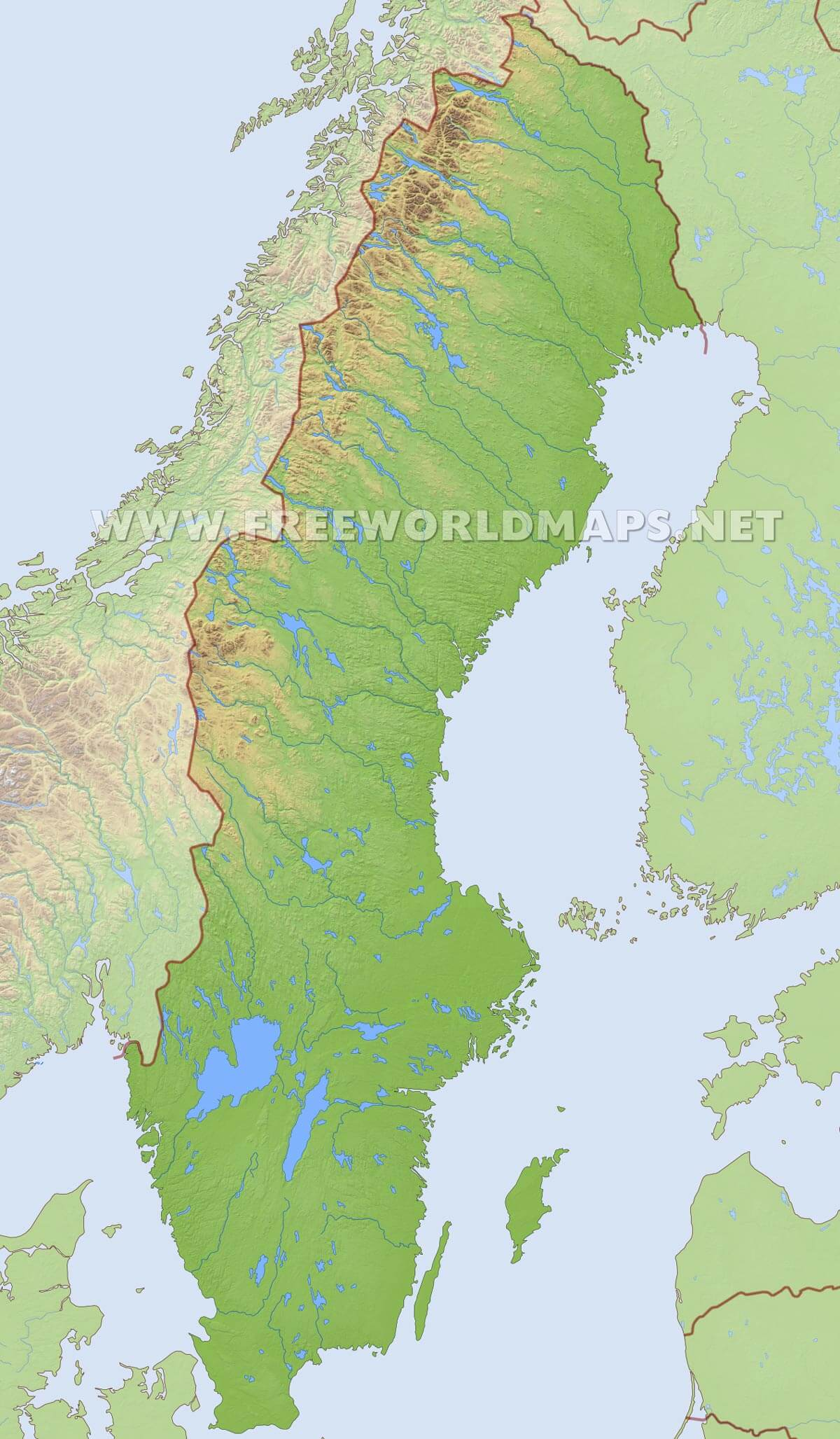 Sweden Geography Map Sweden Map Straight Talk Coverage Map - Sweden map satellite