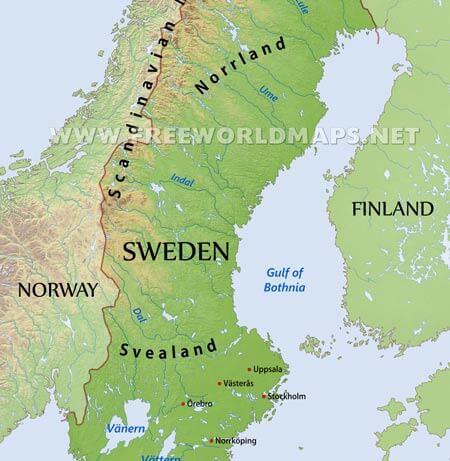 Sweden Maps By Freeworldmapsnet - Sweden map physical