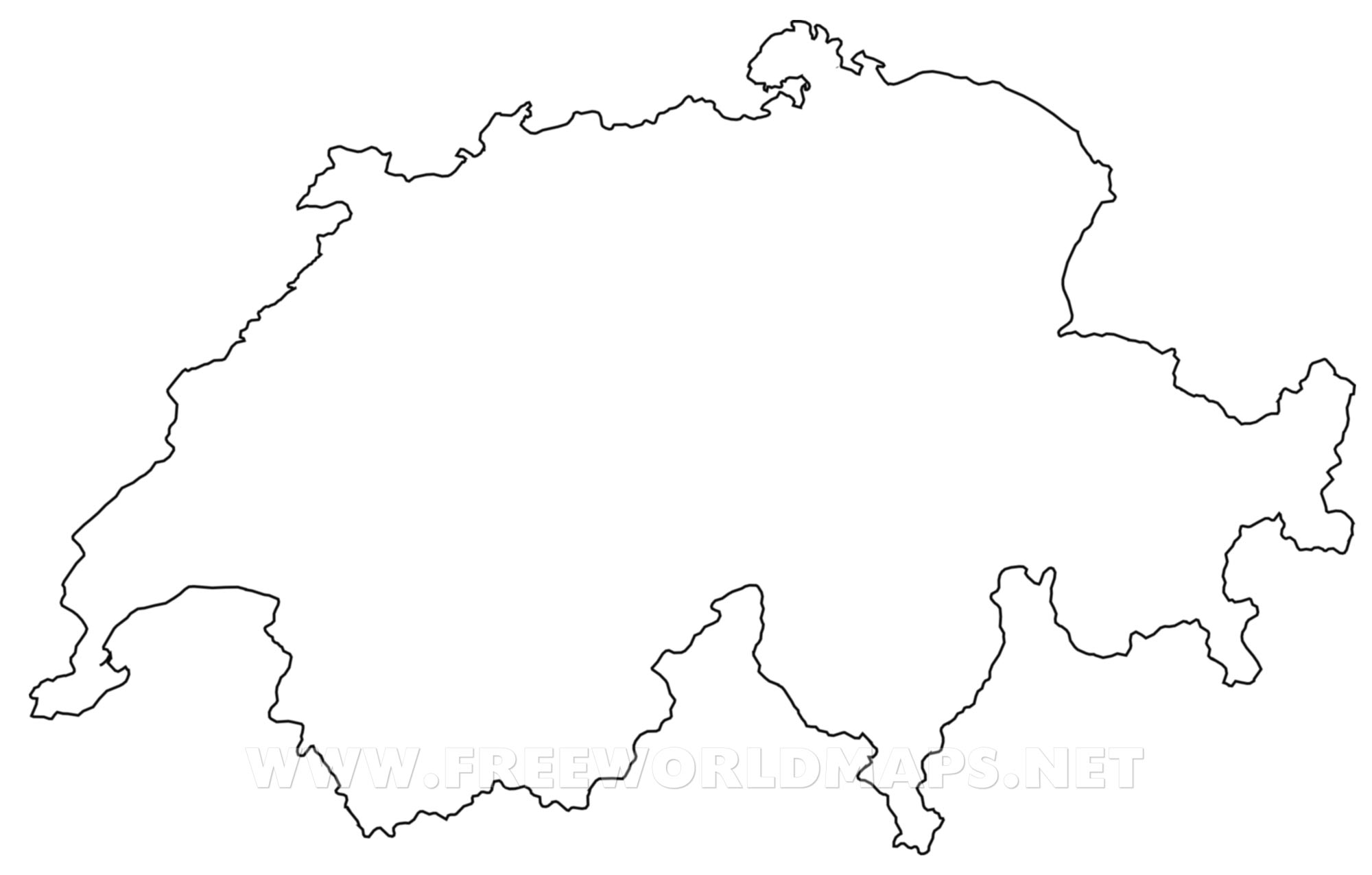 Switzerland Political Map - Europe political map outline printable
