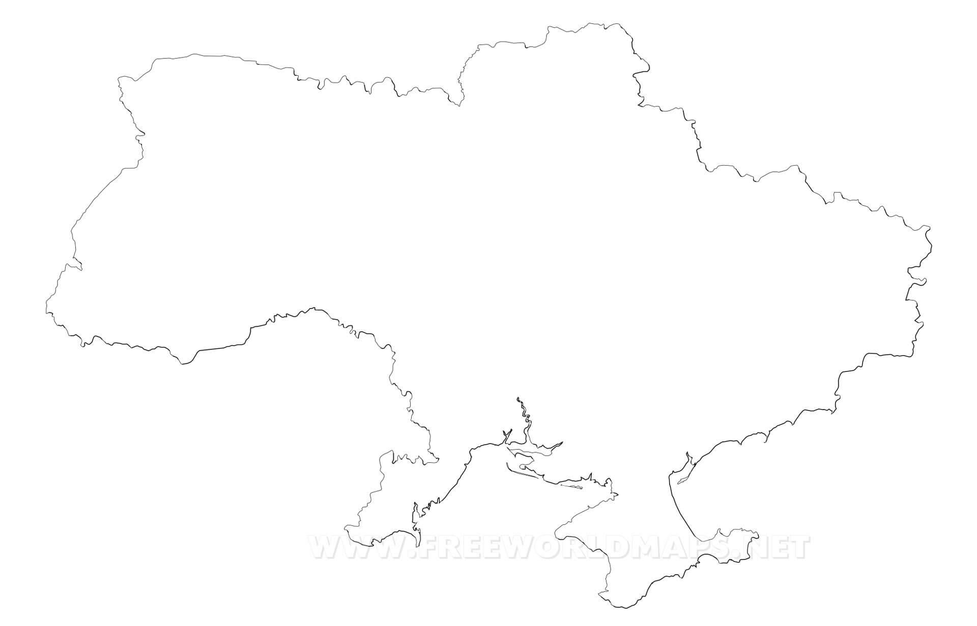 Ukraine Map Outline Ukraine Politic...