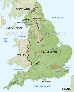 Country Map Of England.England Maps By Freeworldmaps Net