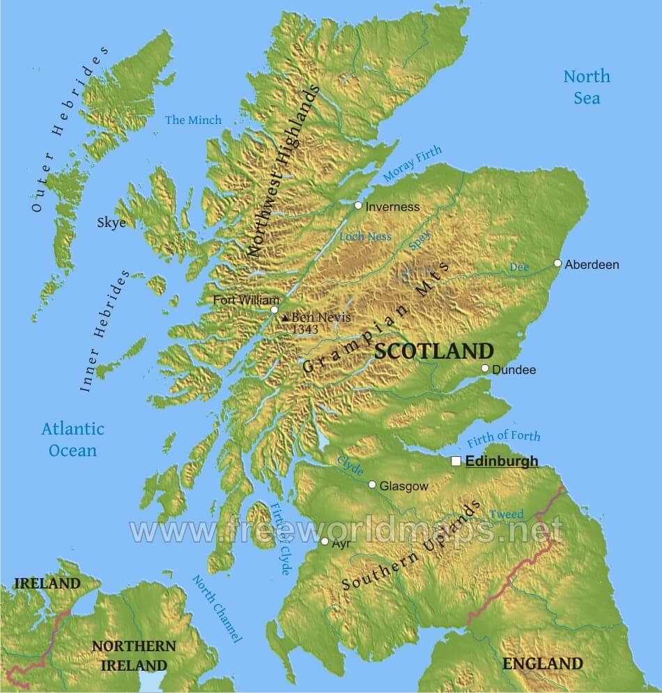 Scotland geography mapg scotland mountain ranges scotland geography scotland geography physical sciox Image collections