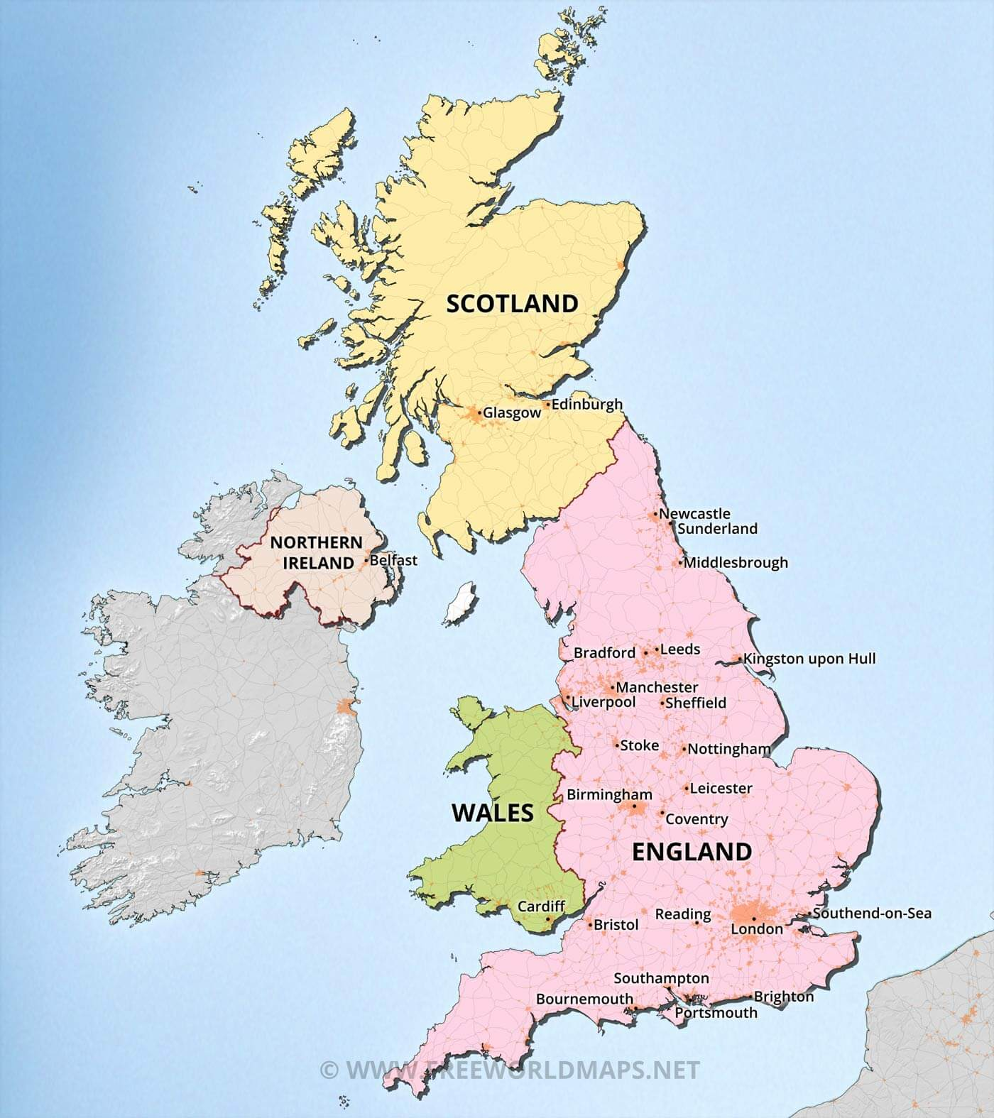 United Kingdom Maps by Freeworldmapsnet