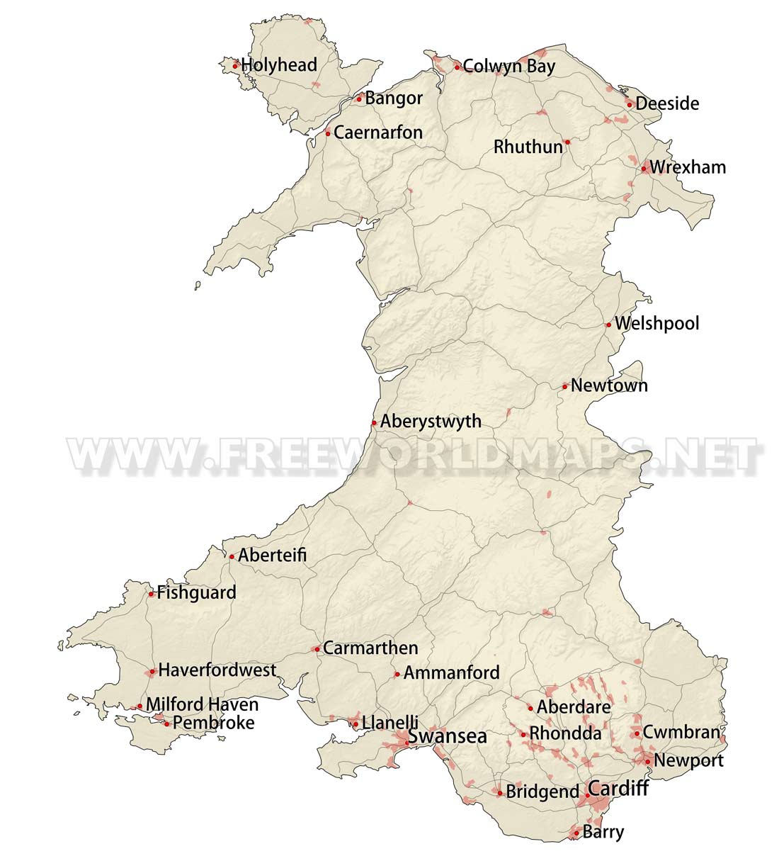 Wales Maps by Freeworldmapsnet