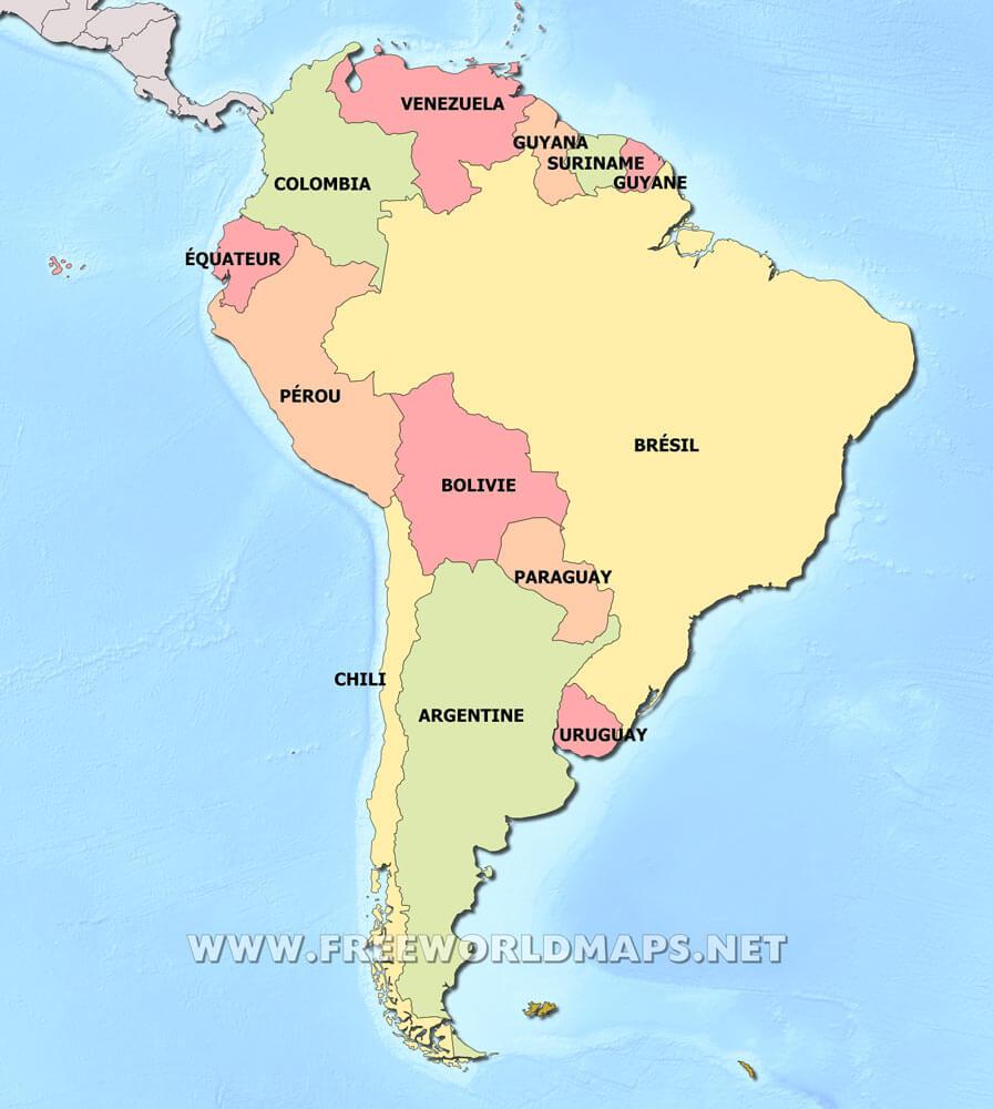 Fabuleux Carte de l'Amérique du Sud RT28