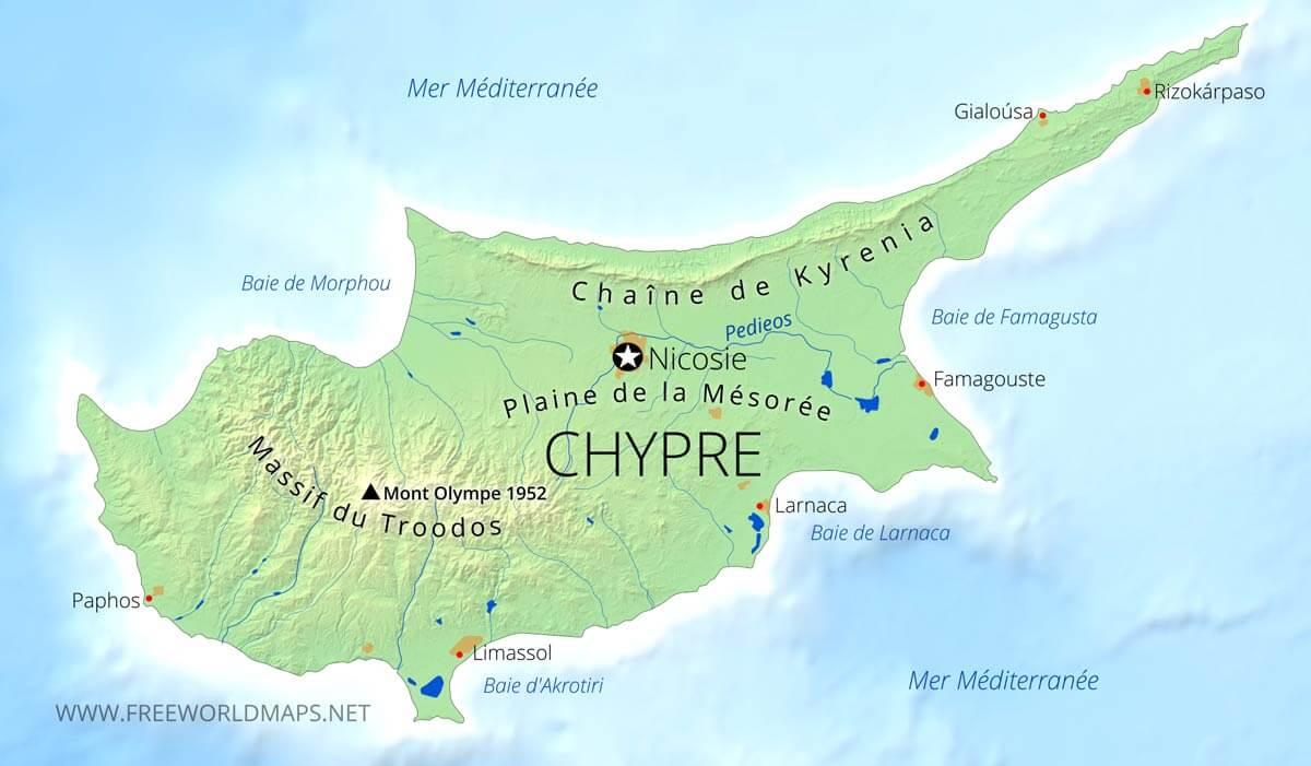 carte de chypre