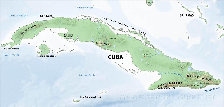 Carte Cuba Et Floride.Carte De Cuba