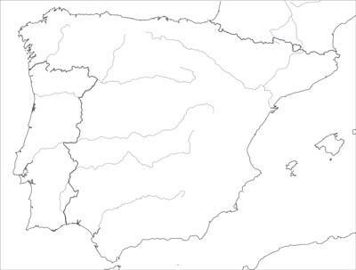 Carte Espagne Muette.Carte Geographique D Espagne