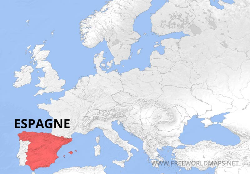 Carte Espagne Hd.Carte Geographique D Espagne