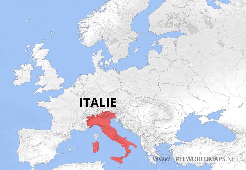 Carte Italie Europe.Carte De L Italie