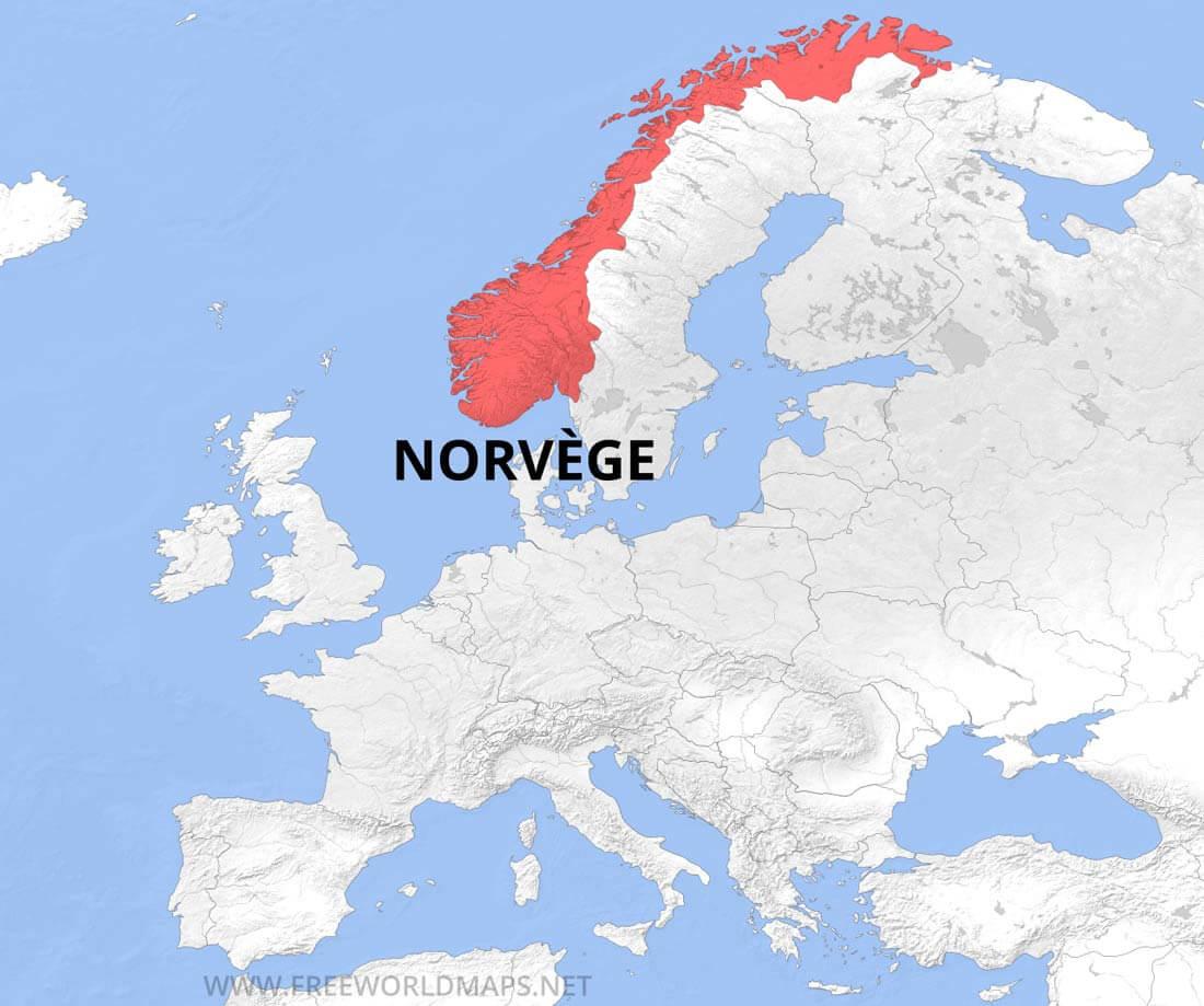 Carte de Norvège