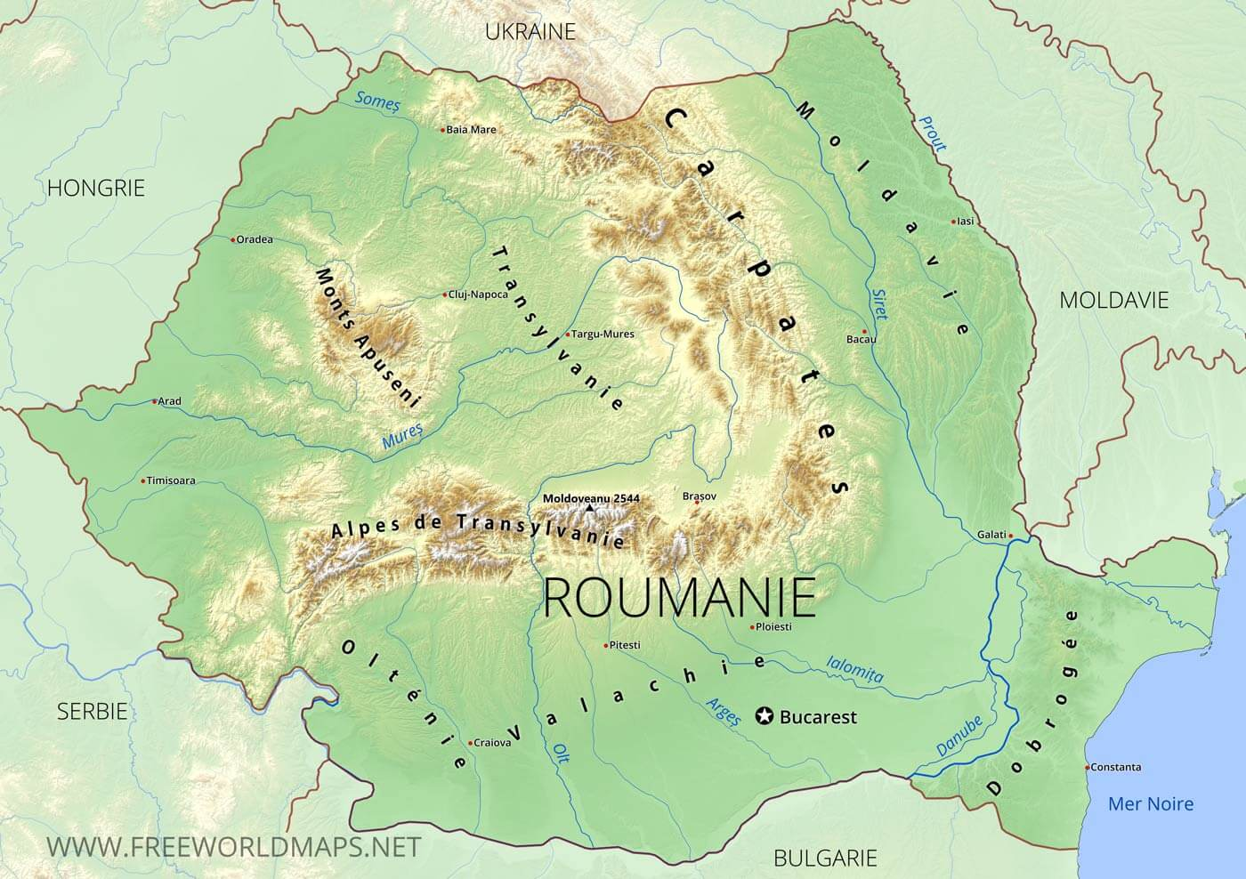 Carte Roumanie Villes.Carte De Roumanie