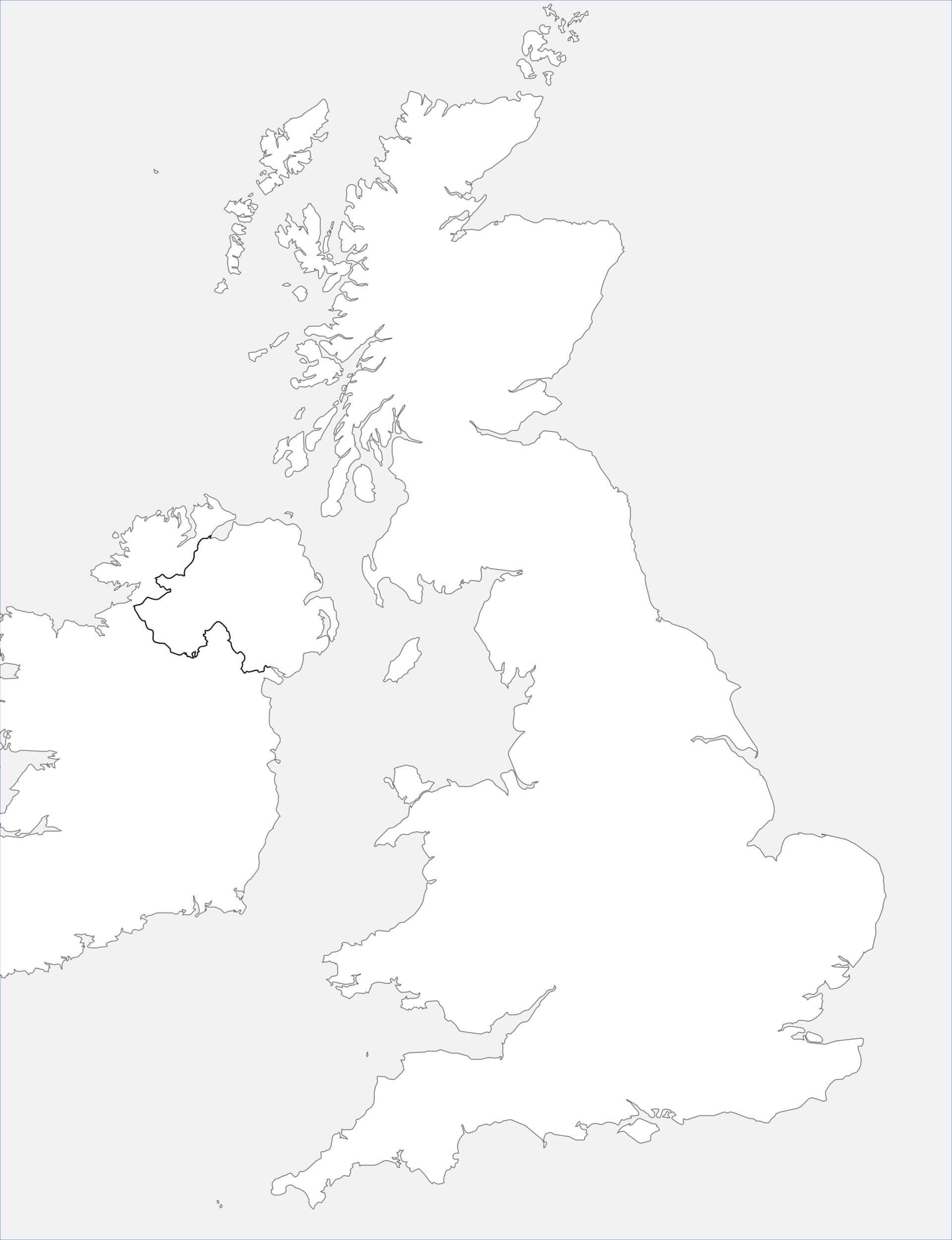 carte du royaume uni vierge Carte du Royaume Uni