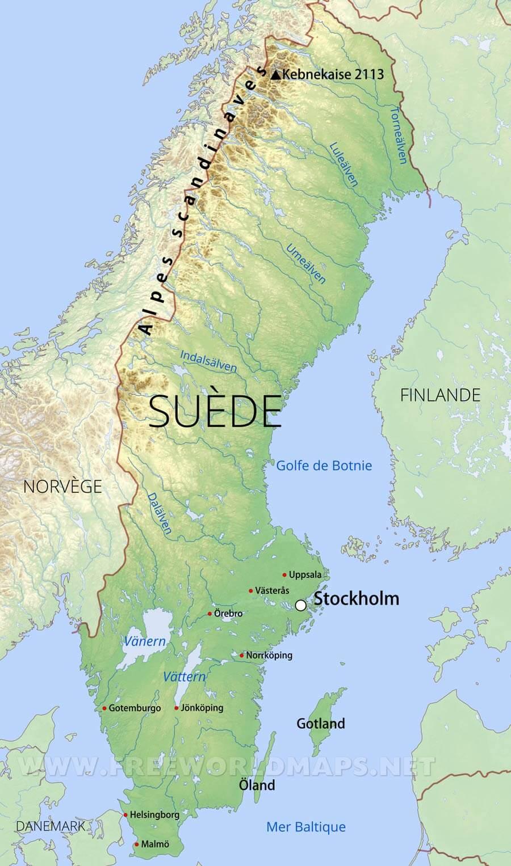 carte de la suède Carte de Suède