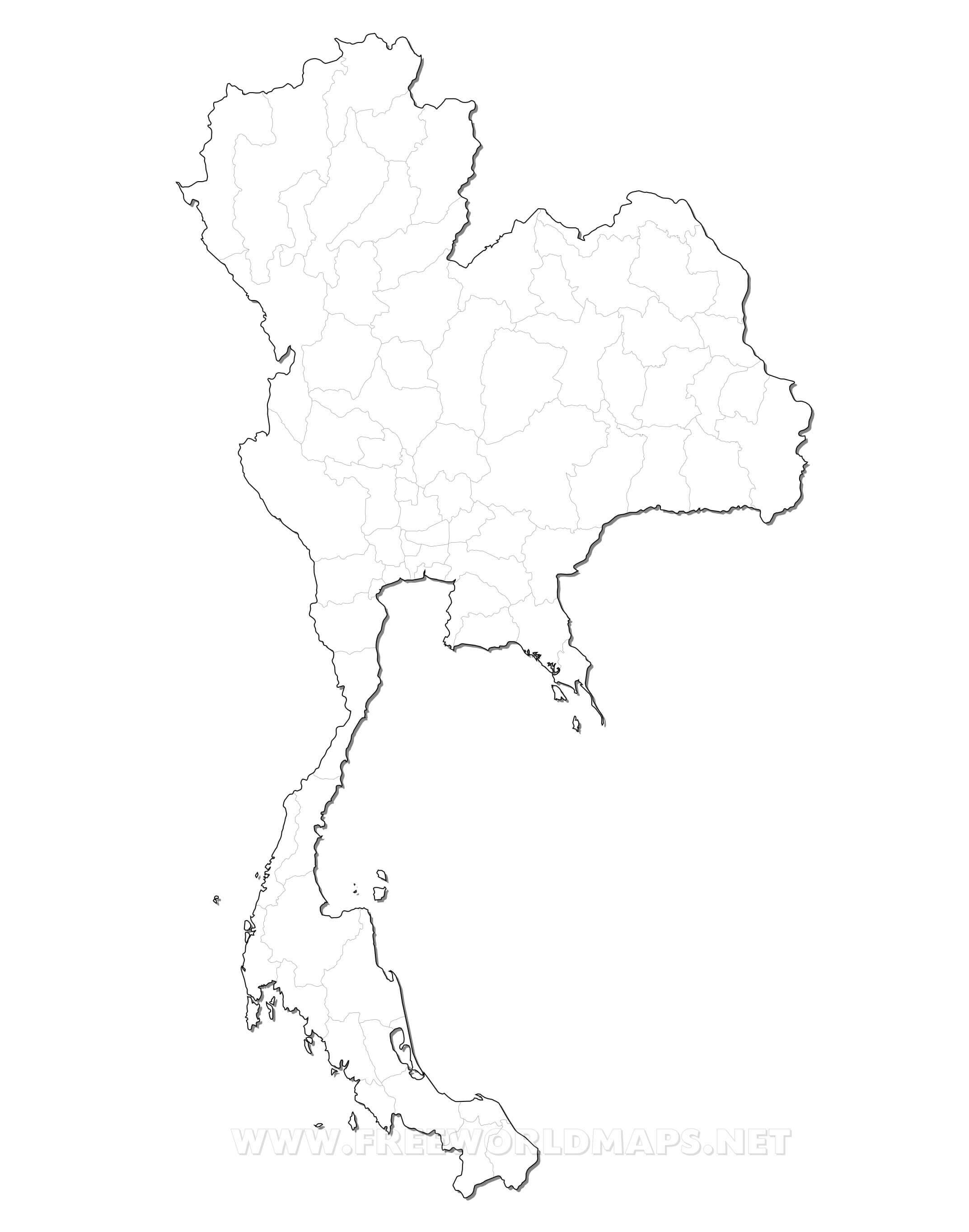 Carte Thailande Frontiere.Carte De Thailande