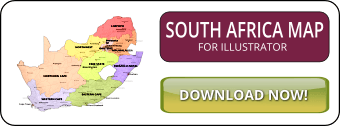 South Africa map illustrator SVG