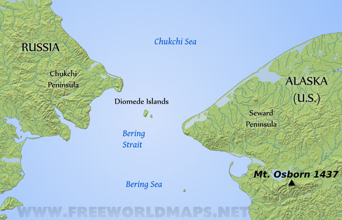 Diomede Islands Map - Islands map