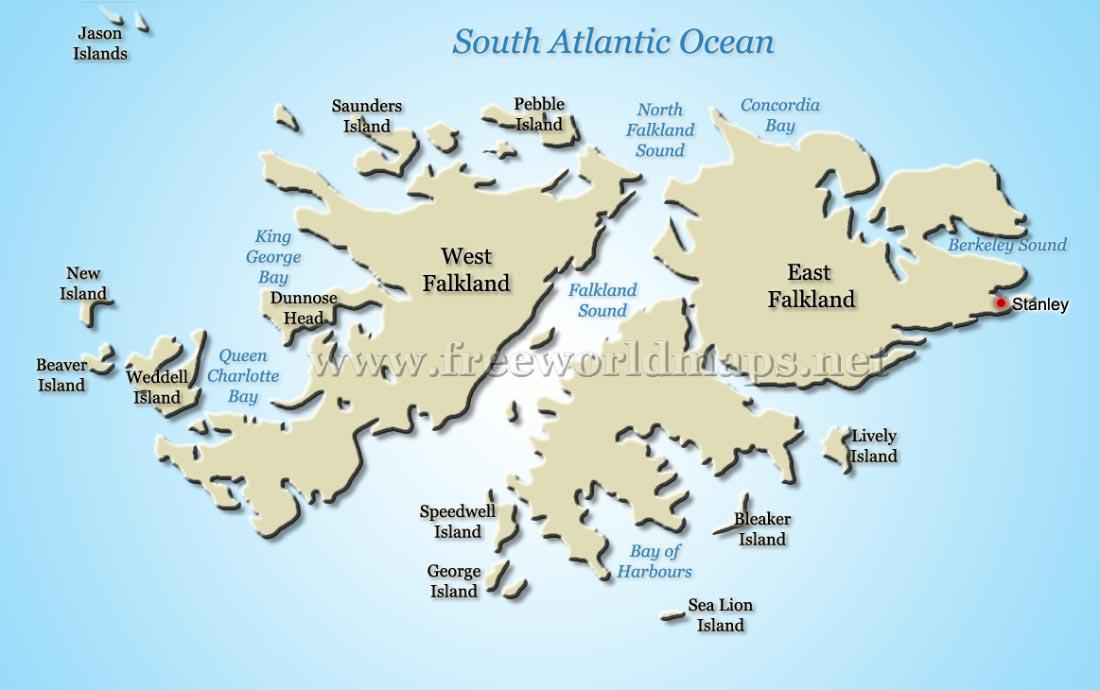 Falkland Islands Map - Falkland islands map