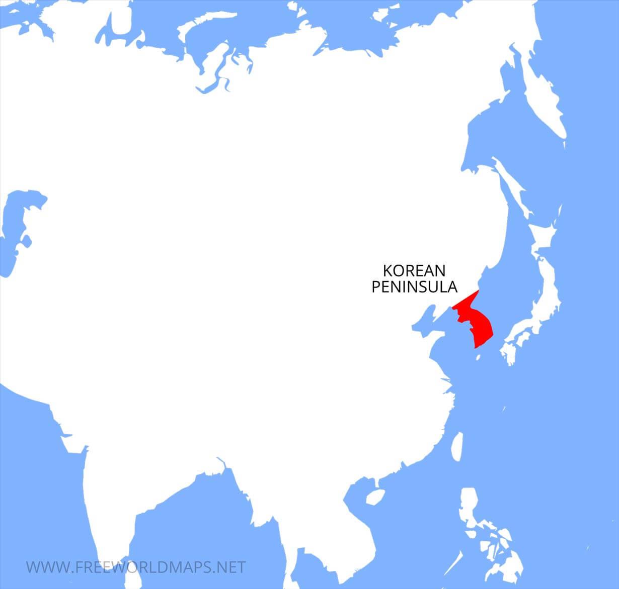 Korean Peninsula maps