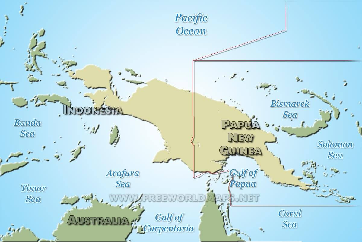 New Guinea map