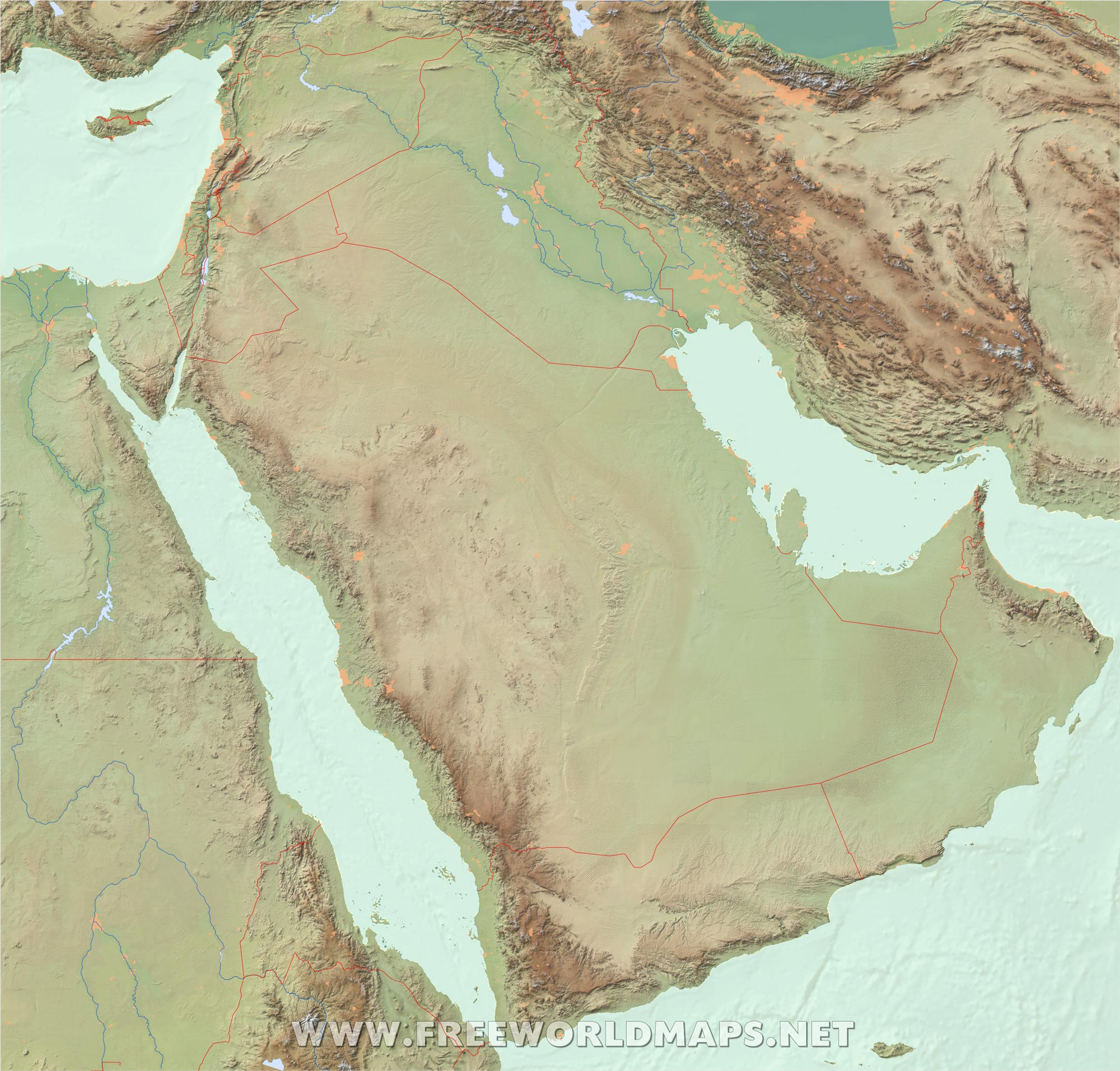 Free Middle East Maps – by Freeworldmaps net