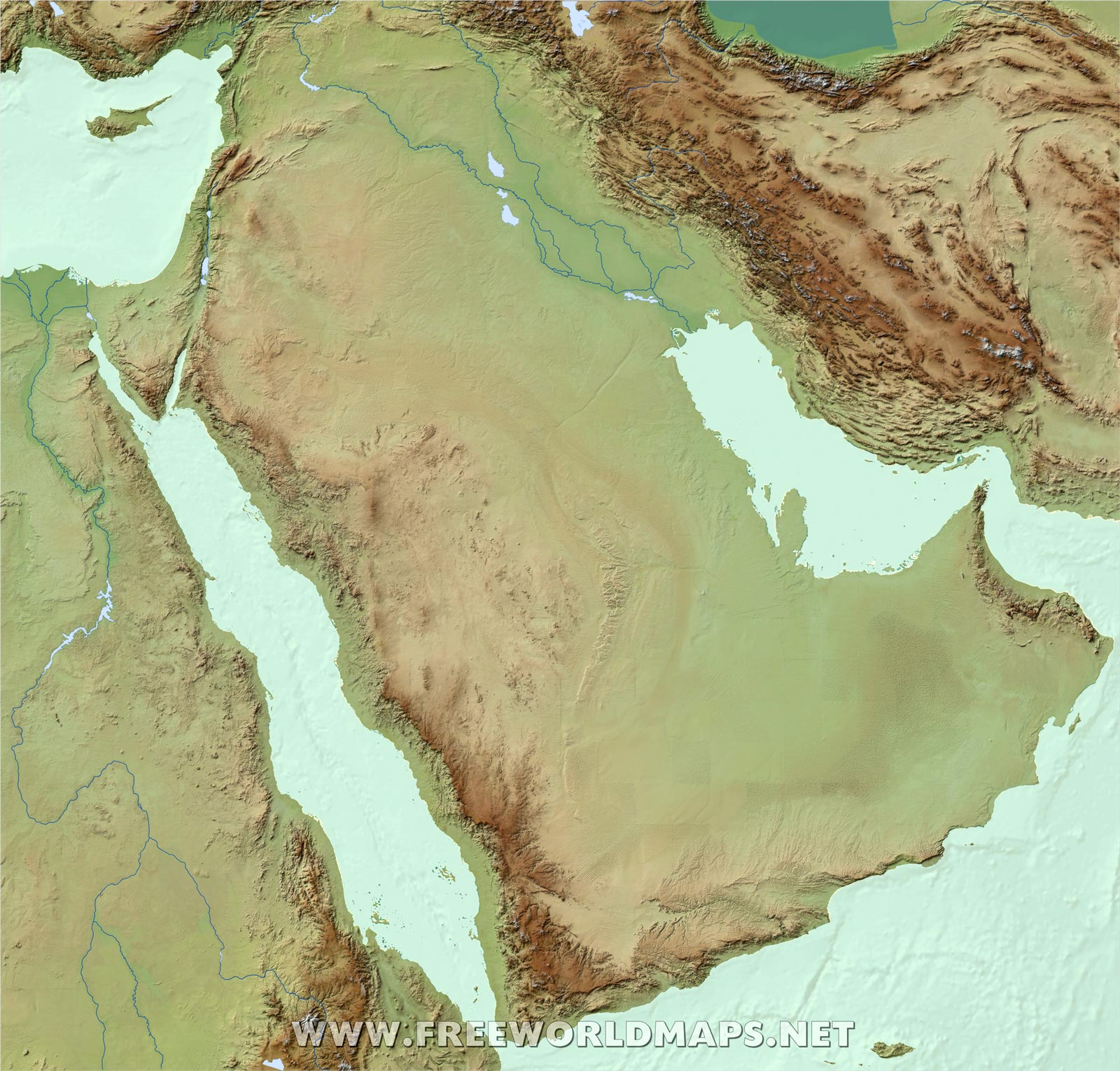 Free Middle East Maps – by Freeworldmaps.net