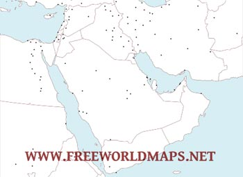 Cities Of The Middle East   Free Pdf Map