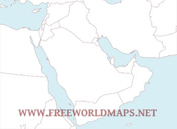 Middle east maps download in pdf format freeworldmaps countries of the middle east free pdf map gumiabroncs Gallery
