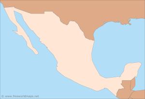Free PDF Maps Of Mexico - Usa map empty