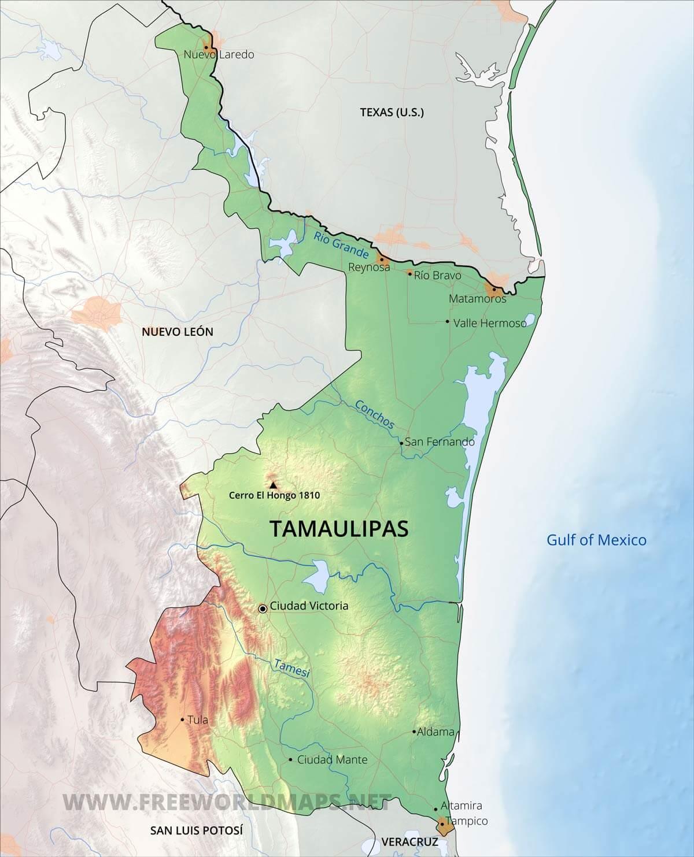 Altamira Mexico Map.Tamaulipas Map