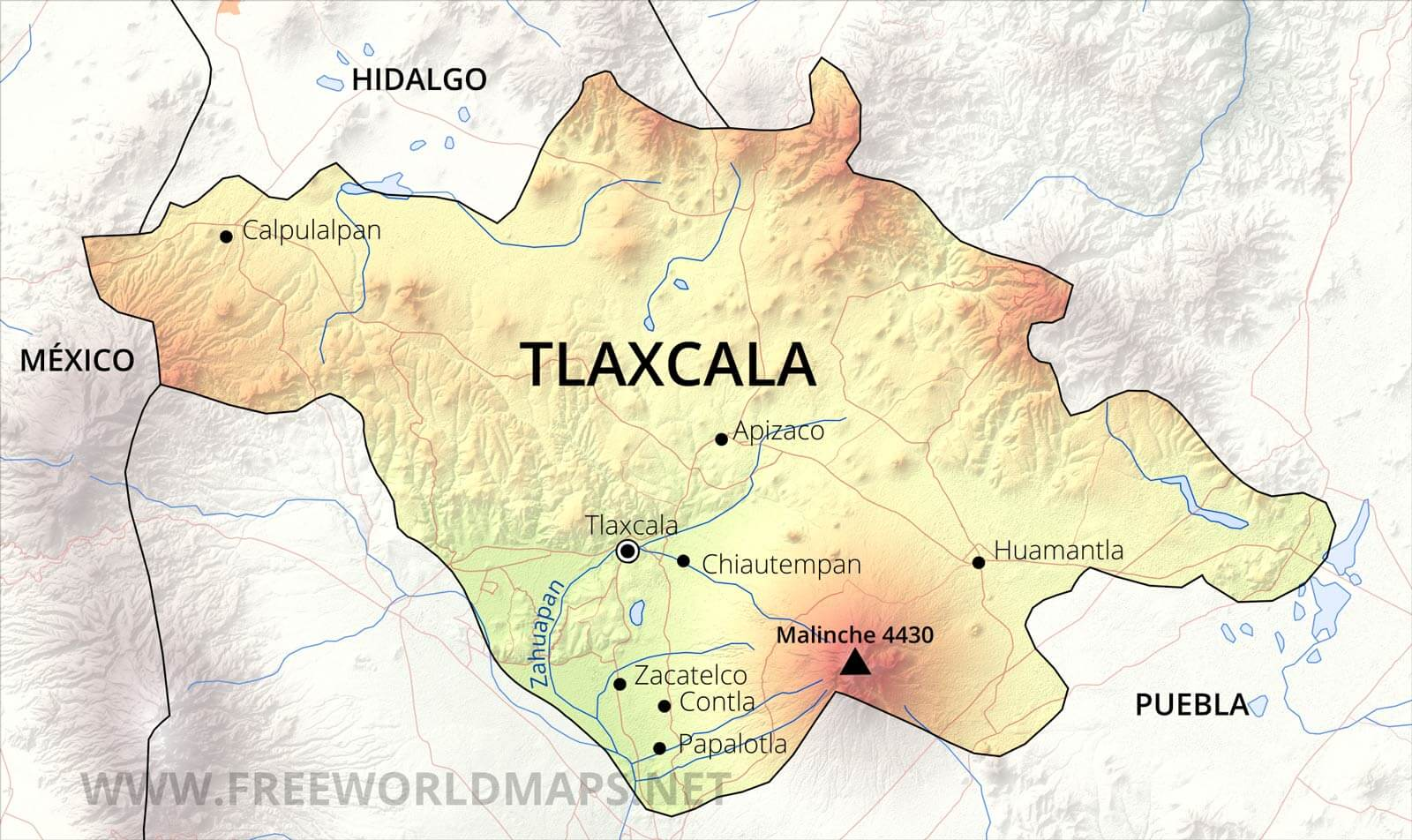 tlaxcala map